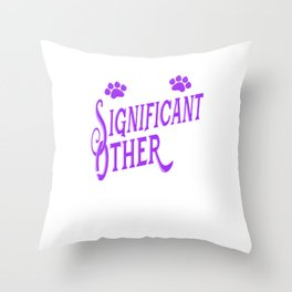 My Significant Other Has a Tail export 02 Throw Pillow