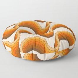 Golden Ribbons Floor Pillow