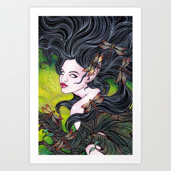 Queen of dragonflies Art Print