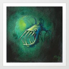 Hairy Anglerfish Art Print