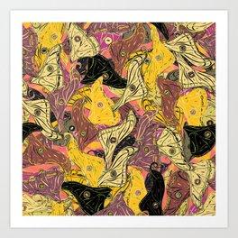 Butterfly Wings in Bold Yellow Art Print