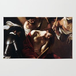 Caravaggio The Crowning with Thorns Rug