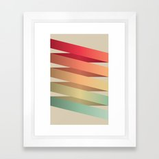 Colorful Ribbon Framed Art Print