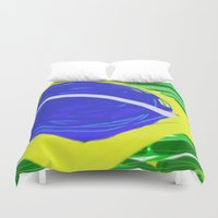 brasil Duvet Covers featuring BRASIL by Fabiano ART