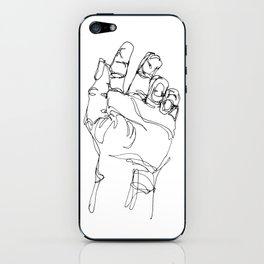 Ink doodle hand #2 iPhone Skin