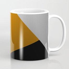 Metallic I - Abstract, geometric, metallic textured gold, silver and black metal effect artwork Coffee Mug