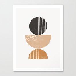 Ariana - muted, earth toned, earthy, abstract, dorm art, modern art, trendy wall art, teracotta tren Canvas Print