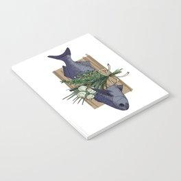 Seafood Series : Paperbark Blue Cod Fish Notebook