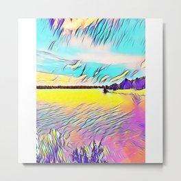 Lake Shawnee In Topeka Metal Print
