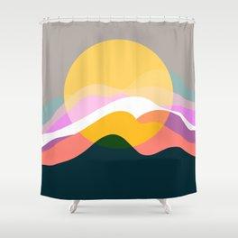 Sunrise From Mountain Shower Curtain