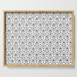 Hand Drawn Hypercube Serving Tray