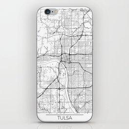 Tulsa Map White iPhone Skin
