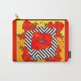 MODERN ART YELLOW-RED POPPIES GARDEN Carry-All Pouch