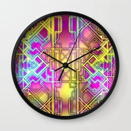 Neon Deco Wall Clock