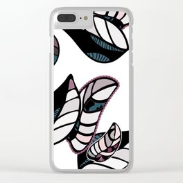 leaves winter vector seamless pattern Clear iPhone Case