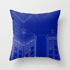 Tardis -Dark Throw Pillow