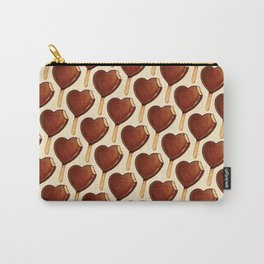 Ice Cream Pattern - Heart Carry-All Pouch