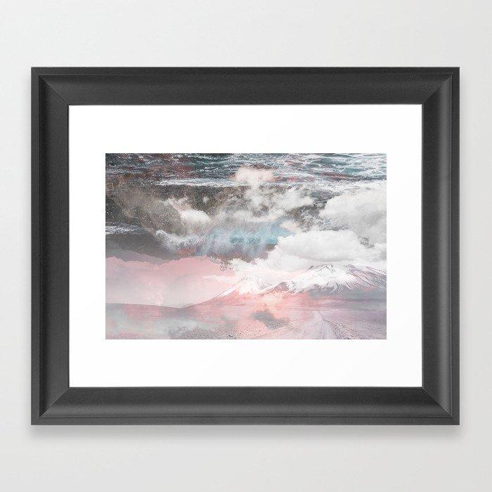 Crashing Clouds Framed Art Print