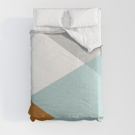 Geometrics - aqua & orange concrete Comforters