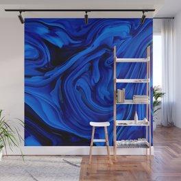 Blue Liquid Marbled texture Wall Mural
