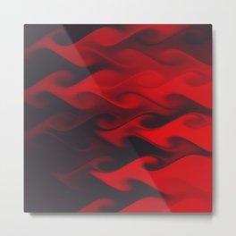 Colorful flames abstract art Metal Print