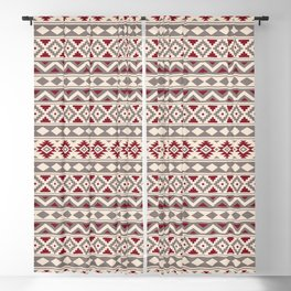 Aztec Essence Ptn IIIb Red Cream Taupe Blackout Curtain