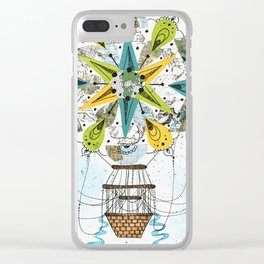 Hot Air Balloon Mandala Clear iPhone Case