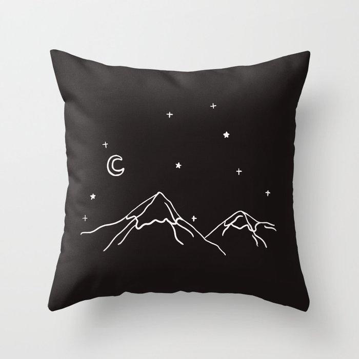 the night Throw Pillow