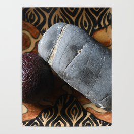 Avocado and Stone Poster