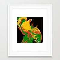rooster Framed Art Prints featuring Rooster by Saundra Myles