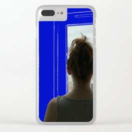 Living in a Blueprint Clear iPhone Case