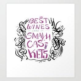 The Best Wine (color) Art Print