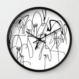 handrawn flamingo Wall Clock