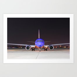 Face To Face with a Southwest Airlines Boeing 737-700 Art Print