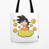 goku Tote Bags featuring Goku by CmOrigins