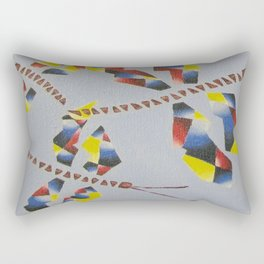 Primary Triad Dragonfly Rectangular Pillow