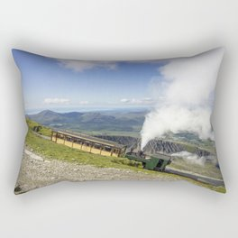 Steam Train To Snowdon Rectangular Pillow