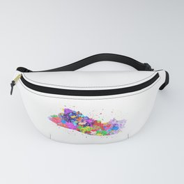 El Salvador Watercolor Map Fanny Pack