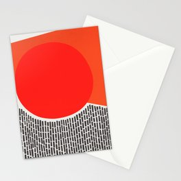Sunshine And Rain Abstract Stationery Cards