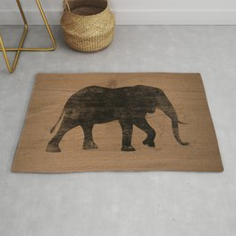 African Elephant Silhouette(s) Rug