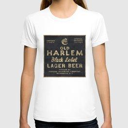 Old Harlem Lager Beer vintage advertisment poster T-shirt