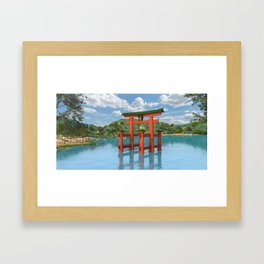 Itsukushima shrine miyajima Framed Art Print