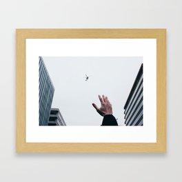 Helicopter Over DC Framed Art Print