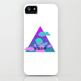 vapourwave hina weathering with you iPhone Case