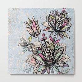 Paper Flowers #4 Metal Print