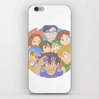 digimon iPhone & iPod Skins featuring Chosen Children by wattleseeds