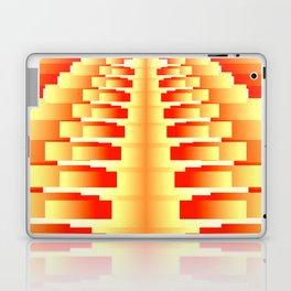 Gradient Stepped Orange Laptop & iPad Skin