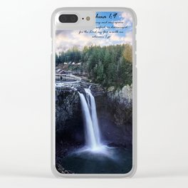 Iphone X Joshua 1:9 Waterfall Clear iPhone Case