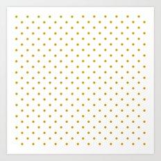 Golden Dots Art Print