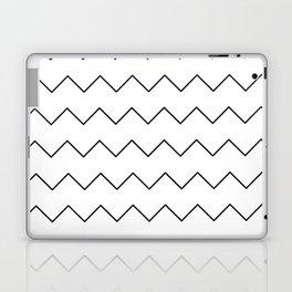 Black white geometrical minimalist chevron Laptop & iPad Skin